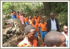 Ivinai primary students at Mzima Springs