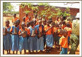 Tree seedlings given to Iviani primary