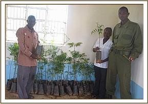 Tree seedlings given to Mtito hospital