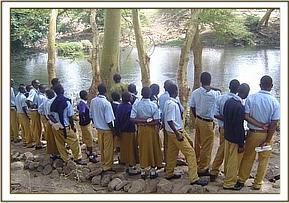 Maktau secondary school at Mzima springs