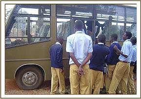 Maktau students board the bus