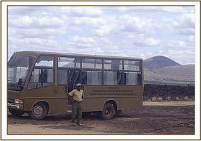 The DSWT bus that is used on the school trips