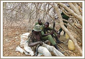 Arrested poachers and hideout
