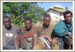 The four poachers arrested in Kishushe