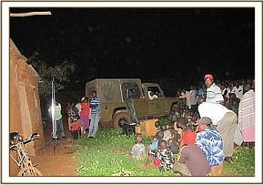 Wildlife Video show at Jasho village