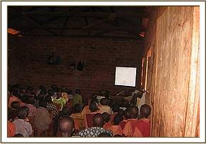 Wildlife film shown to students at Nzoya primary