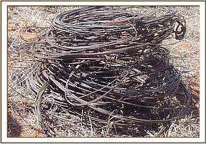 Pile of recovered snares