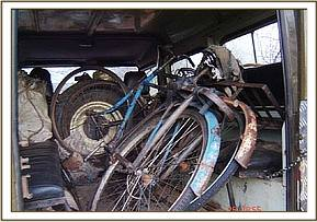 Two confiscated bicycles