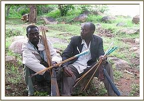 Arrested poachers with poisoned arrows