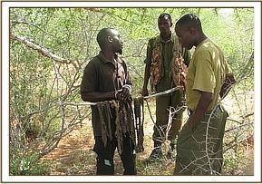 Arrested poacher at Kulalu with game meat