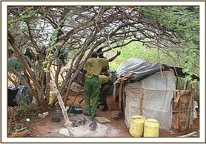Poachers hideout at Kulalu ranch