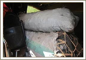 Confiscated charcoal sacks