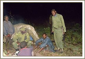 The team on night ambush on maasai boma