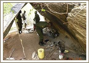 A poacher's hideout discovered near Gazi area