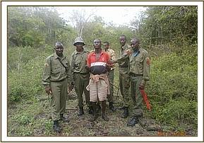 The arrest of a poacher in the Park