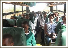 Ivingoni secondary on their field trip