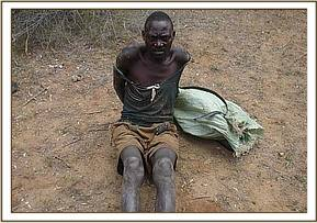 One of the arrested poachers