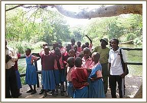 Itumo pupils at Mzima Springs