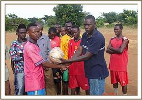 Donation of Sports equipment to the team