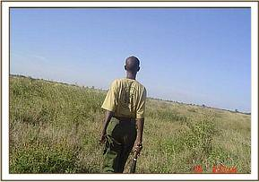 One of the Ziwani desnaring team members