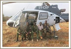 Team members before an air recce