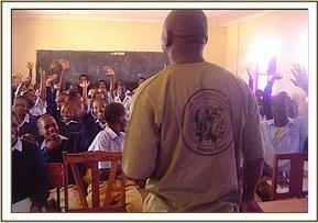 A conservation lecture at maktau secondary school