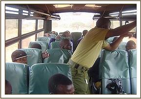 Maktau Students enjoy the game drive