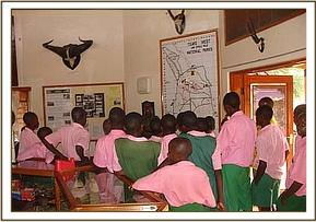Kithasyo pupils at the Information Center
