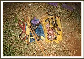 weapons and fish recovered from poachers