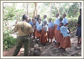 Lecture at Mzima springs
