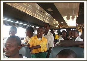 Mbulia primary students enjoy the game drive