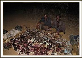 The two poachers with the 150kgs of bushmeat