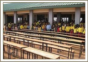 The new desks donated to Kone primary school