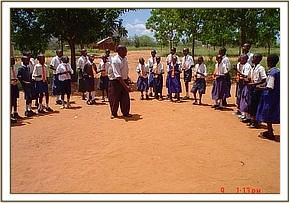 School children from the Jambo project