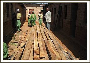 Confiscated timber, Yikitaa area