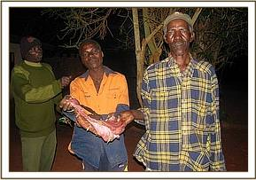 Poachers arrested in possesion of bush meat