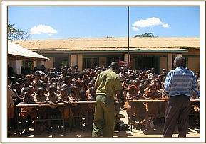 Desk Donation at Maktau primary school