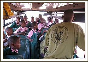 Mzwanenyi students during their park trip
