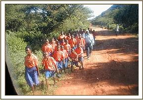 Teachers & Pupils ready for their game drive
