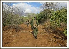 Patrol at Kimweli area