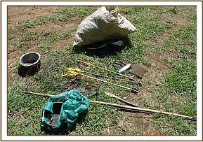 Items recovered from the poachers
