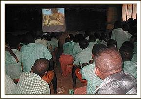 Video show at Gideon Mosi primary