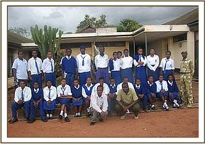 Alan Mjomba students at the education center