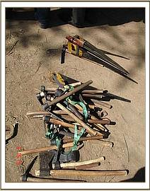 The wood carvers tools
