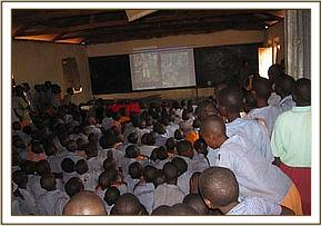 Kasaala pupils enjoy the film show