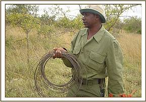 Snares lifted while on patrol in the Maktau area