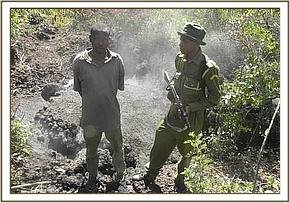 Arrest of charcoal burner at Mbotela area