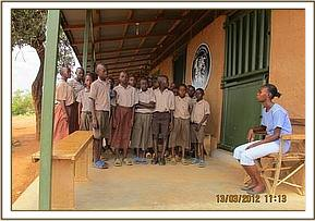 Msharinyi pupils visit the stockade