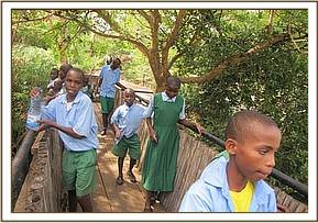 Mzima Springs with Usalama pupils
