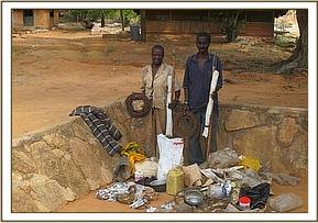 Poachers with their items